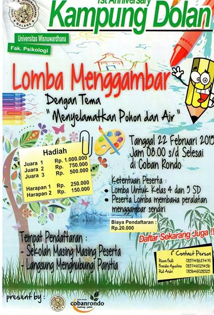 LOMBA MENGGAMBAR '1st Anniversary Kampung Dolan' Fak. Psikologi Universitas Wisnuwardhana Malang